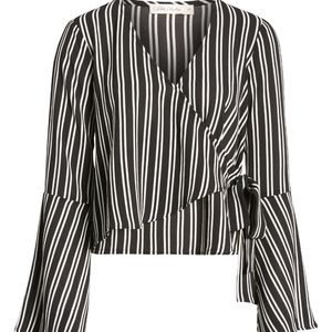 Chloe & Katie Bell Sleeve Wrap Top